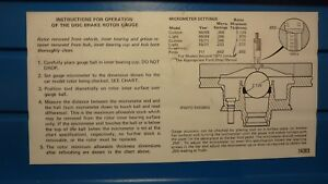 Ford Specialty Tools Otc T71p 1102 A Disc Brake Rotor Guide Micrometer Only