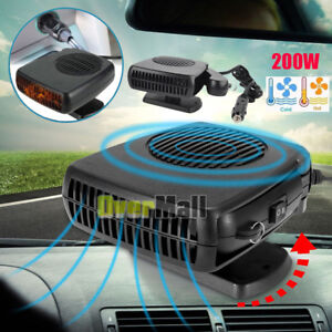 Upgrade 2in1 12v 200w Portable Car Heating Cooling Fan Heater Defroster Demister