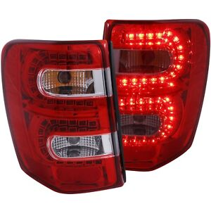 Tail Lights Left Right Pair W Red Clear Lens Fits 99 2004 Jeep Grand Cherokee