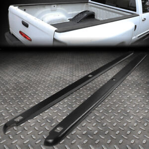 For 02 09 Dodge Ram 8ft Fleetside Pair Truck Bed Side Rail Molding Caps W holes