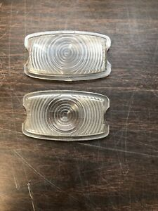 1941 Chevy Plastic Parking Light Lamp Lenses Pair Nos Gm Guide 918
