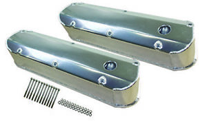 Tall Aluminum Fabricated Ford 289 302 351w Valve Covers W Grommets Long Bolt V8