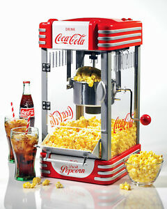 Coca cola Classic Kettle Popcorn Maker Red Retro Popper Machine Rkp630coke