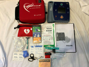 Philips Heartstart Fr2 Aed Defibrillator New 2023 Battery Carrying Case
