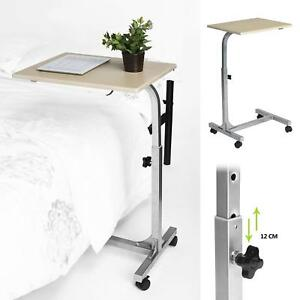 Overbed Rolling Table Computer Laptop Food Cart Tray Home Medical Hospital Desk