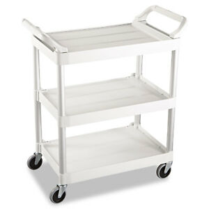 Rubbermaid Commercial Off white Three shelf Service Cart