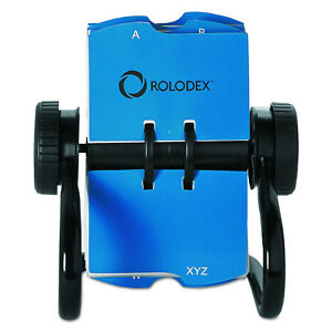 Rolodex Open Rotary Black Business Card File W 24 Guides