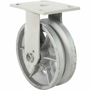 6in Fairbanks Rigid Semi steel V groove Caster 152232623