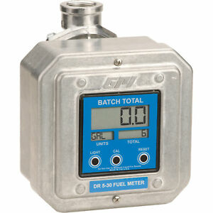 Gpi Digital Fuel Flow Meter 5 To 30 Gpm 1in Inlet outlet Model Dr 5 30 8n