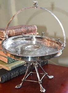 Reed Barton Antique Victorian Bride Basket Compote Silverplate Figural Eden
