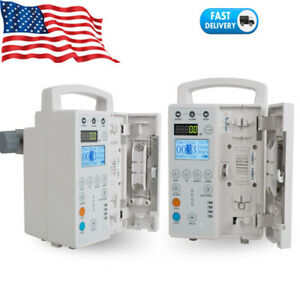Infusion Pump Iv Fluid Equipment Voice Alarm Patient Monitor Kvo Purge Preset