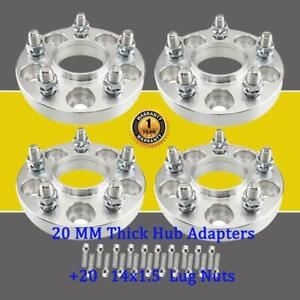 4 20mm Hub Wheel Adapters 5x112 To 5x114 3 14x1 5 For Mercedes 20 Lug Nuts