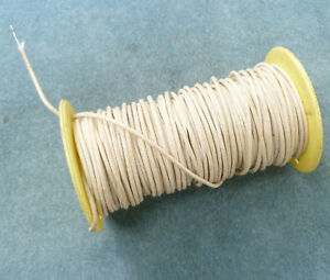 Spool Cloth Wrapped Hook Up Wire White 22awg Tinned Copper Solid