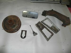 1941 42 43 44 45 46 47 1948 Chevrolet Parts Lot Trim Crank Pulley Used Vintage