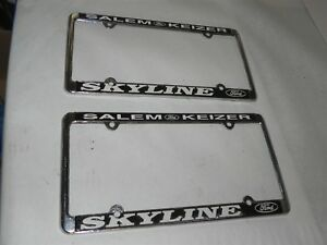 Vintage Ford Dealership License Plate Frames Pair Nice New Antique Wow Cool