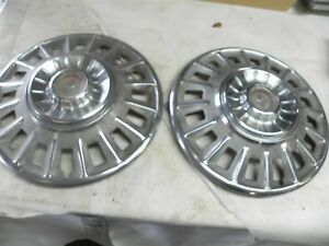 1968 Ford Mustang 14 Inch Hub Caps Wheel Covers Nice Cool Wow Vintage Automotive