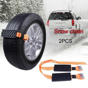 2 Pcs Car Tire Anti Skid Block Vehicle Emergency Snow Chain