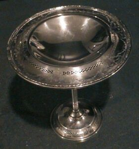 J S Co Sterling Silver Pedastal Candy Dish 143 Gms Not Weighted