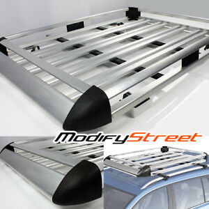 63 X 44 Silver Aluminum Roof Top Luggage bag Holder Rack cargo Carrier Basket