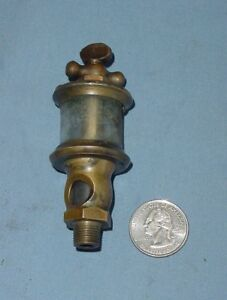 Small Powell 00 Hit Miss Gas Engine Brass Oiler