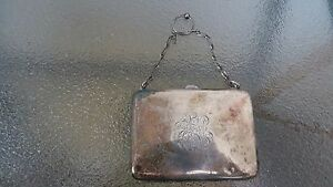 Antique Ladies Victorian Card Money Purse Sterling Silver
