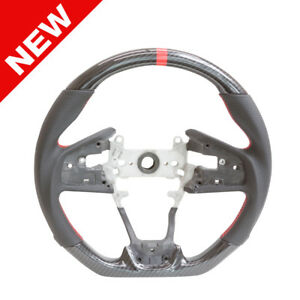 Hydro Carbon Handkraftd Steering Wheel W Perforated Leather For 16 Honda Civic