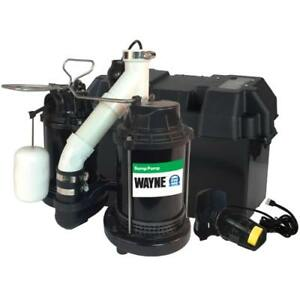 Wayne Wss30v 1 2 Hp Cast Iron Submersible Sump Pump With Automatic Switch