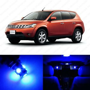 15 X Blue Led Interior Light Package For 2003 2007 Nissan Murano Pry Tool