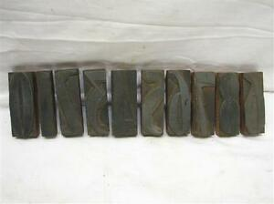 Antique 0 9 Numbers 4 Letterpress Art Deco Wood metal Block Type Set Printing