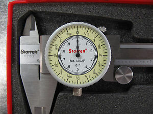New Starrett 0 6 Fractional Decimal Combination Dial Caliper 1202f 6