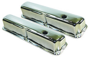 Ford 352 390 428 Chrome Steel Valve Covers Cleveland 1958 70 W Grommet Fe