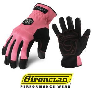 Ironclad Tuff Chix Tcx Women s Work Gloves Pink Bulk 12 Pair Case Select Size