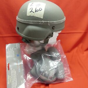 ACH MICH USED Helmet BAE SYS size MEDIUM PADS Chinstrap Gray  M # 260