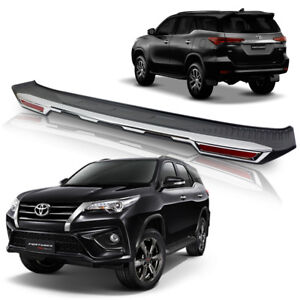 Tailgate Bumper Cover Matte Black Garnish For Toyota Fortuner Suv 2016 2018