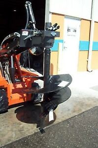 Mini Skid Steer Auger Pkg W 36 Tree Auger Bit Mcmillen X1500 High Torques
