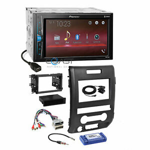 Pioneer Usb Multimedia Bluetooth Stereo Dash Kit Harness For 2009 12 Ford F 150