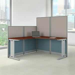 Bush Business Furniture Office In An Hour 65w X 65d L Shaped Cubicle Workstation