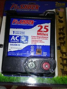 Fi Shock Eac25m fs Low Impedence 25 Mile Ac Power Electric Fence Controller