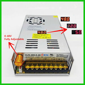 Ac 110 220v To Dc 0 48v 10a Adjustable Switching Power Supply With Display