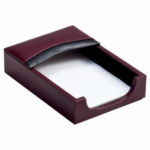 Two tone Leather 4 Inch X 6 Inch Memo Holder