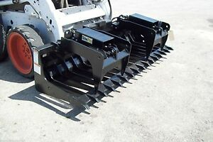 Skid Steer Root Grapple Hd 84 Wide Tines Spaced 5 1 2 Reg 3500 blow Out