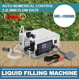 Lt130 Auto Filler Liquid Filling Machine Built in Motor 3 Screens Switchable
