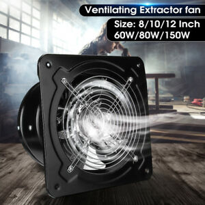 8 10 12 16 Commercial Axial Industrial Extractor Plate Fan Blower Ventilator