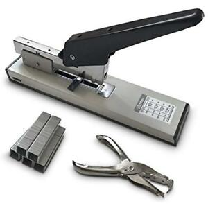 Heavy Categories Duty Stapler Set 90 Sheets High Capacity 1000 Box Staples And
