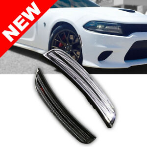 15 17 Dodge Charger Bumper Led Side Marker Light White Led Reflector Replacement