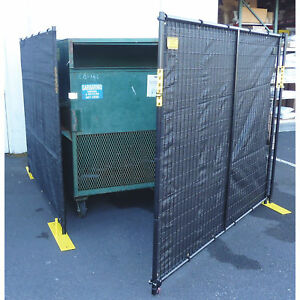 Jewett cameron Perimeter Patrol 5panel 4sided Dumpster Enclosure With Gate black