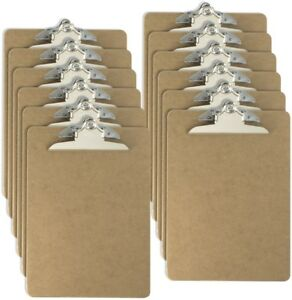 Officemate Letter Size Wood Clipboards 6 Inch Clip 12 Pack Clipboard Brown