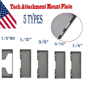 1 4 5 16 3 8 1 2 hd Thick Quick Tach Attachment Mount Plate Skid Steer Loader