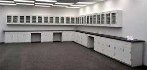 36 Wall 39 Base Laboratory Cabinets Furniture W Lab Counter Tops