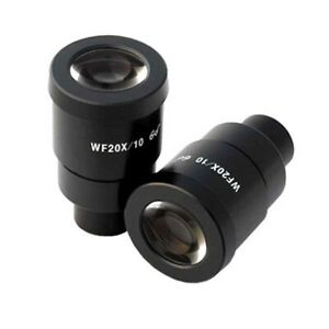 Amscope Super Wide Field 20x Microscope Eyepieces 30mm